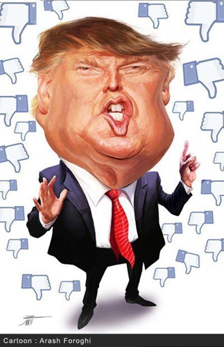 تصویر از کاریکاتورهای دونالد ترامپ