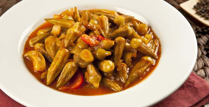 تصویر از طرز تهیه خورشت بامیه بدون گوشت