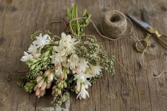 دسته گل عروس با گل مریم+ نکات انتخاب دسته گل عروس