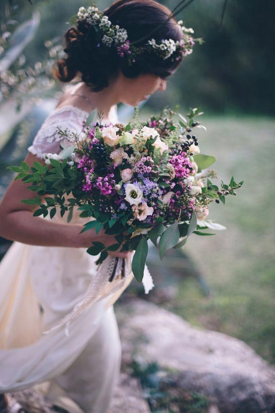 جذابترین نمونههای دسته گل عروس روستیک