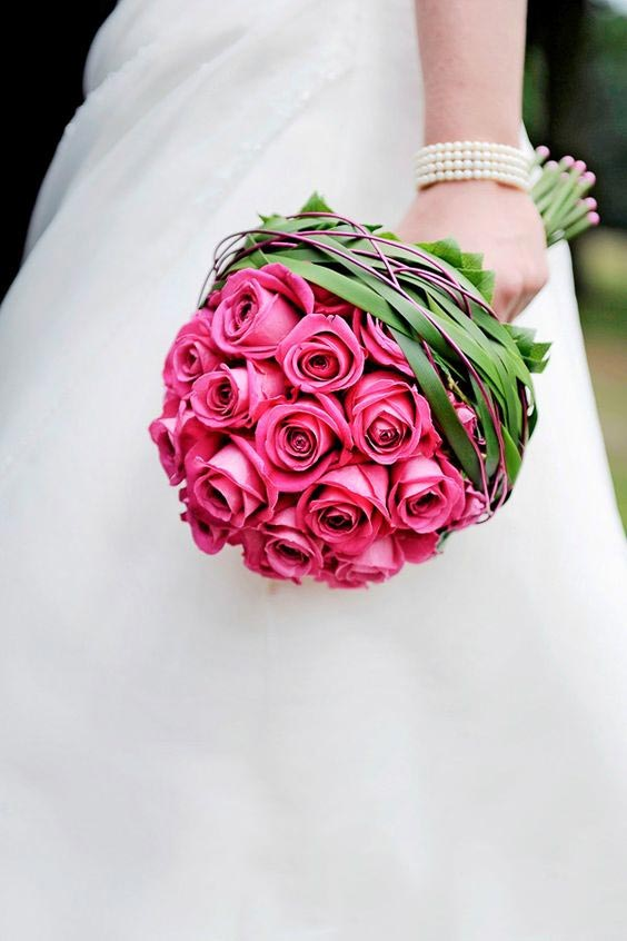 تصویر از زیباترین نمونه های دسته گل عروس مدرن