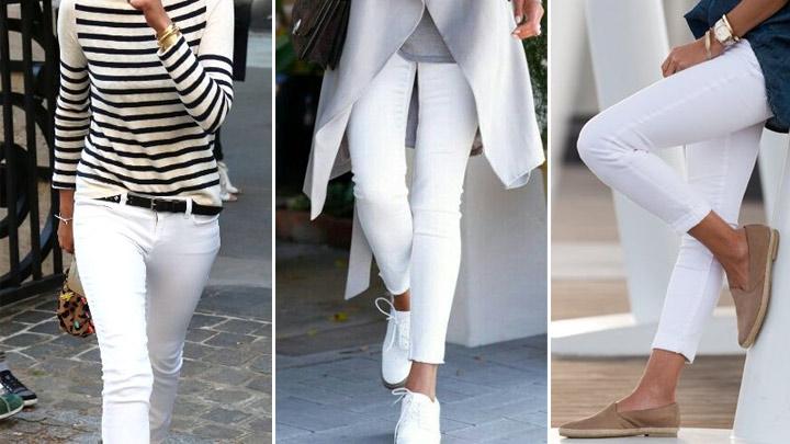 تصویر از بایدها و نبایدهای پوشیدن شلوار جین سفید