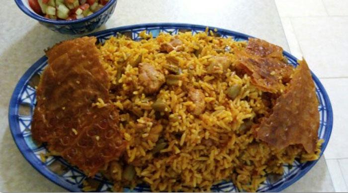 طرز تهیه لوبیا پلو با مرغ و نکاتی برای طبخ آن