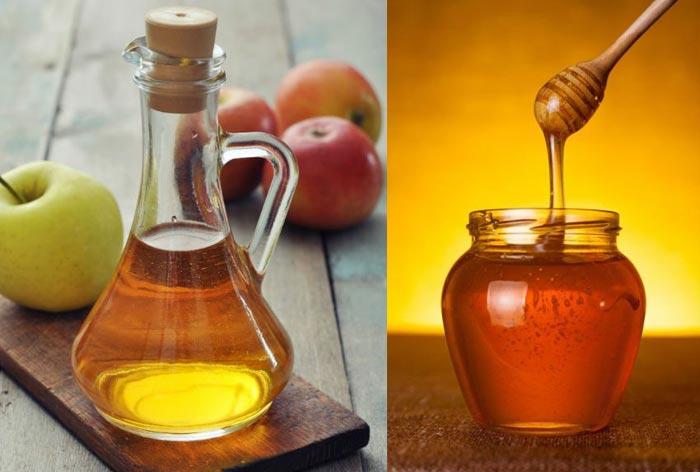 تصویر از لاغری با سرکه سیب و عسل