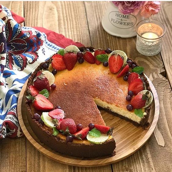 تصویر از طرز تهیه چیز کیک مخصوص شب یلدا(2)