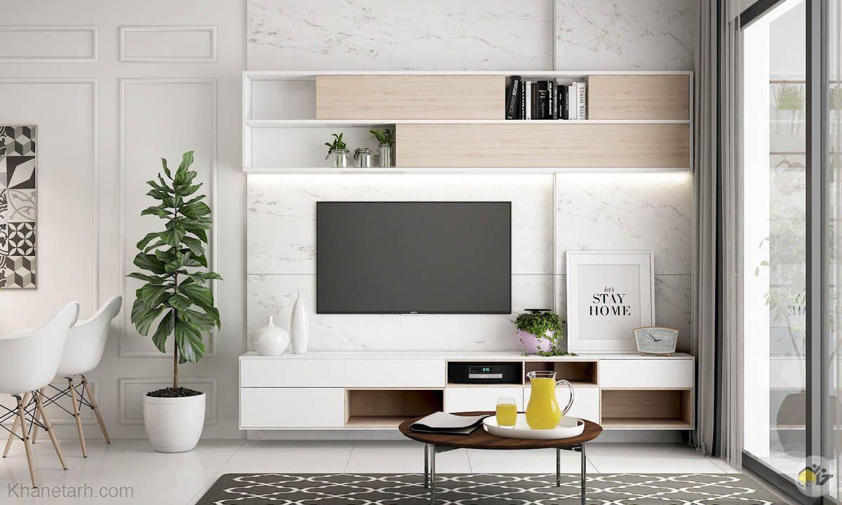 دکور تلویزیون و میز تلویزیون دیواری