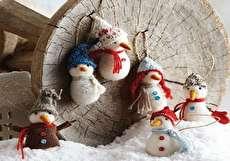 زمستانی زیبا با آدم برفی نمدی + ایده ها و الگوی دوخت