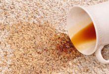 پاک کردن لکه چای از روی ظرف، لباس و فرش