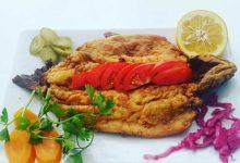 تصویر از طرز تهیه ماهی قزل آلا در ماهیتابه