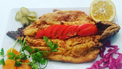 طرز تهیه ماهی قزل آلا در ماهیتابه