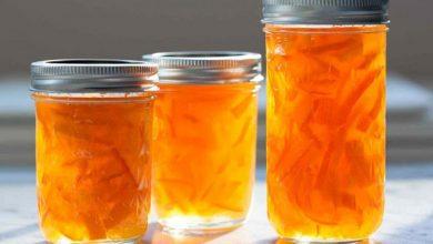 تصویر از طرز تهیه مربای پوست پرتقال به دو شکل خلالی و رولی