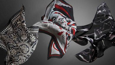 مدل روسری سفید مشکی از بهترین برندهای ترکیه ای