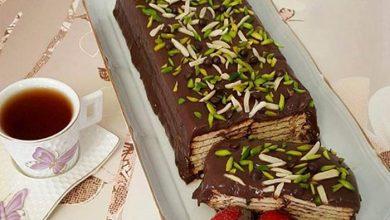 طرز تهیه کیک یخچالی با بیسکویت پتی بور با دو دستور متفاوت