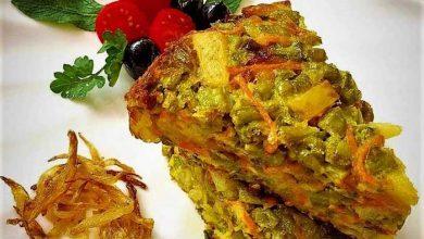 طرز تهیه کوکو لوبیا سبز