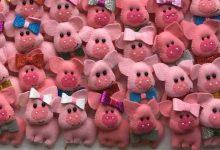 ساخت عروسک خوک نمدی برای هفت سین 98