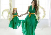 ۲۴ مدل لباس مجلسی ست مادر و دختر