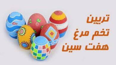 تصویر از آموزش تصویری رنگ کردن تخم مرغ عید 98 | روش تزیین تخم مرغ سفره هفت سین 1398
