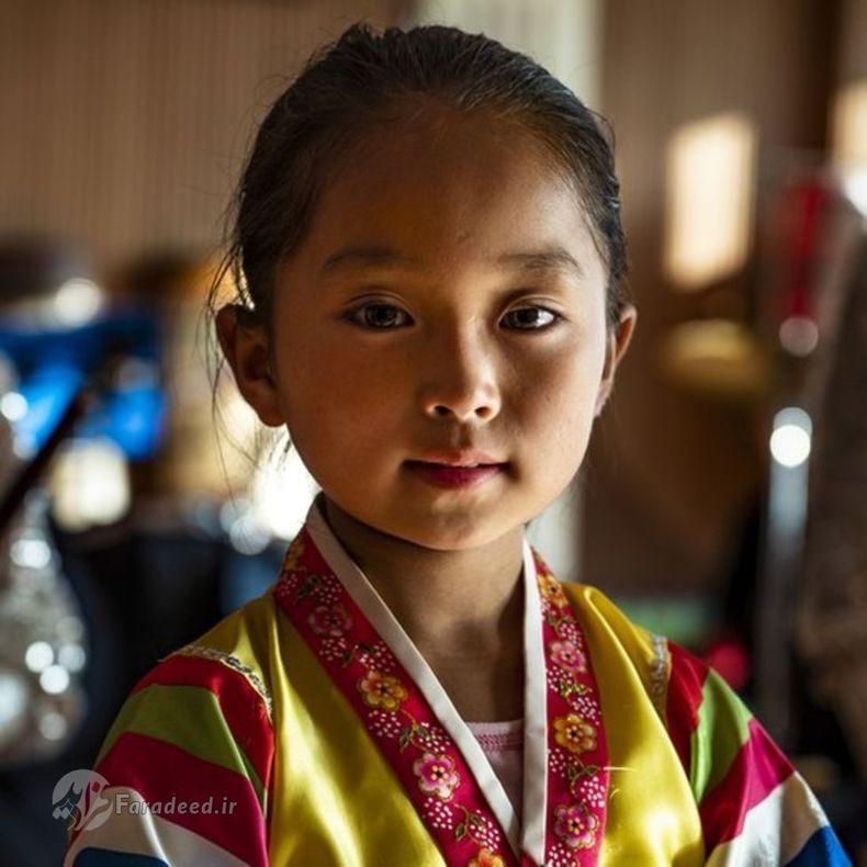 تصویری از چهره ی دختر بچه ی کره ای در Hoeryong.