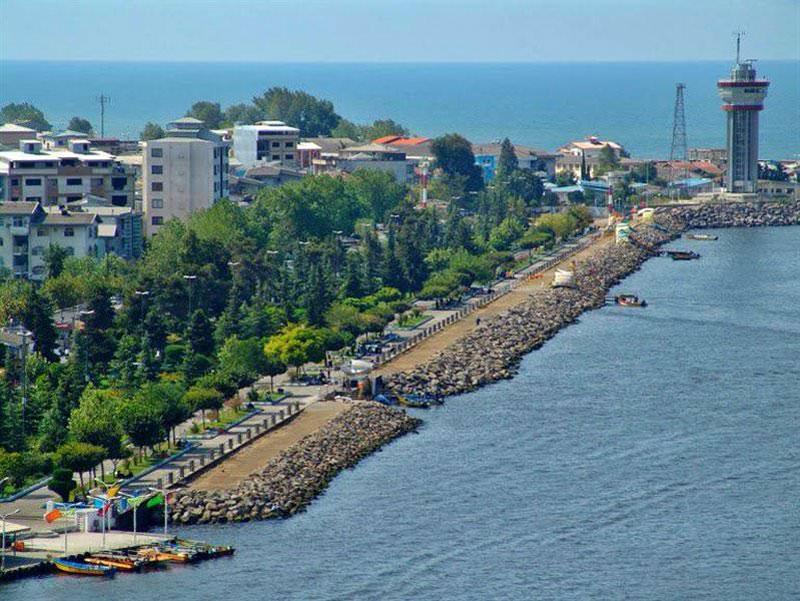 ساحل اسکله بندر انزلی