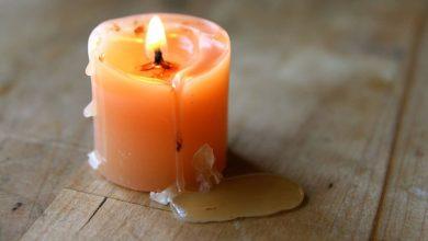 تصویر از روشهای مختلف از بین بردن لکه شمع