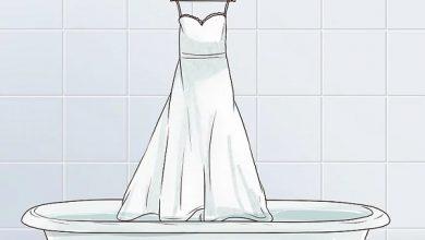 نحوه شستن لباس عروس در منزل و نگهداری از آن
