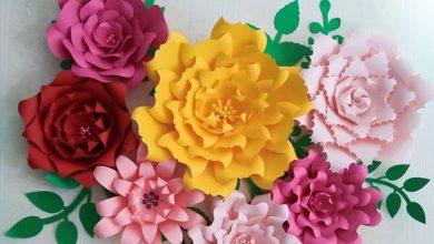 تصویر از ۶ روش آسان برای درست کردن گل کاغذی زیبا