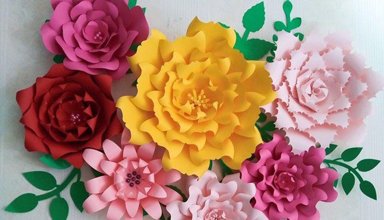 درست کردن گل کاغذی