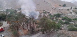 تصویر از حریق در بُنو سیراف با تلاش ۵ ساعته آتش نشانان مهار شد