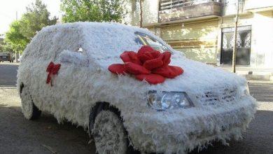 تصویر از تزیین و گل آرایی ماشین عروس با وسایل و مدلهای مختلف