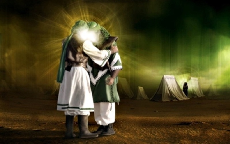 دانلود نماهنگ وداع اباعبدالله (ع) با اباالفضل العباس(ع) +صوت