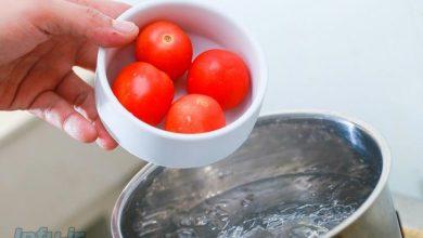 روش سریع کندن پوست گوجه – اینفو