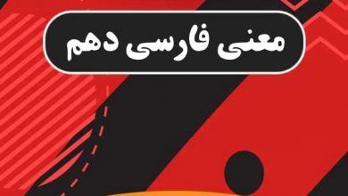 تصویر از معنی دروس فارسی دهم