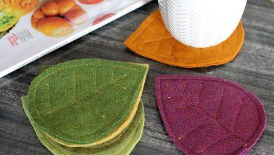 تصویر از ساخت زیر لیوانی پاییزی: آموزش مرحله به مرحله درست کردن زیر لیوانی پاییزی