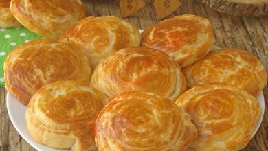 تصویر از نان چند لایه ترکیه به نام katmerli-corak