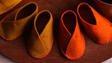 تصویر از آموزش کفش نمدی برای نوزادان: تصویری و مرحله به مرحله