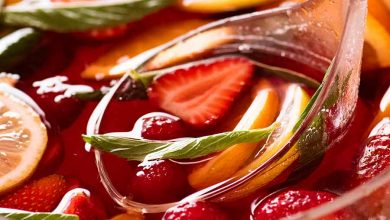 A big, bright, colourful fruit punch for celebratory ocassions!