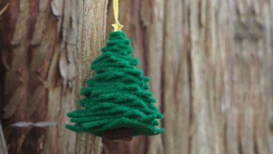 تصویر از آموزش درخت کریسمس نمدی ساده و جذاب (راهنمای تصویری)