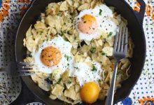 تخم مرغ روی چیپس