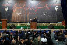 تصویر از مراسم گرامیداشت عروج یافتگان سانحه هوایی در مسجد مقدس جمکران