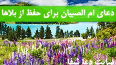 تصویر از دعای ام الصبیان برای حفظ از بلاها و دفع شر جن و انس و پری