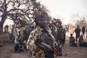 تصویر از کشته شدن ۲۰ غیرنظامی در حمله موشکی بوکو حرام در نیجریه