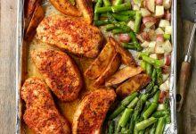 تصویر از طرز تهیه خوراک گوشت و مارچوبه در فر