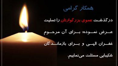 تصویر از مجموعه پیام تسلیت درگذشت عمو