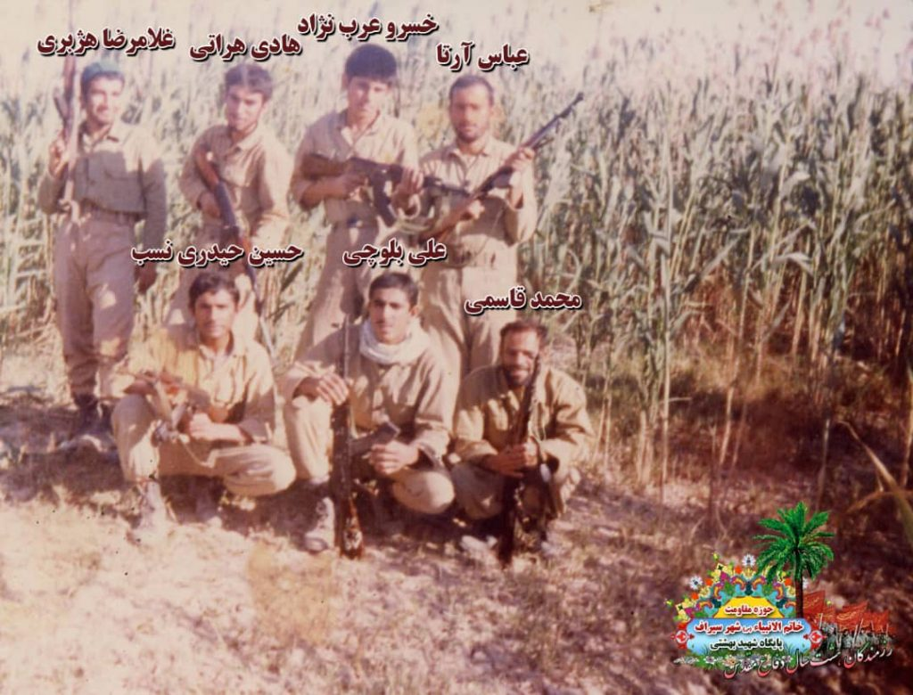 IMG 20201001 WA0074 1024x780 - تصاویری از حضور رزمندگان سیرافی در دوران هشت سال دفاع مقدس