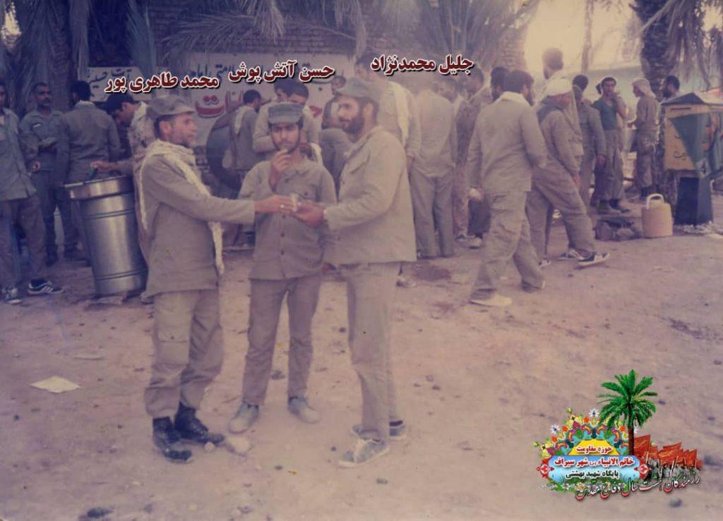 IMG 20201001 WA0077 1024x739 - تصاویری از حضور رزمندگان سیرافی در دوران هشت سال دفاع مقدس
