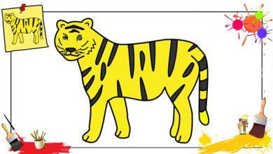 آموزش رنگ آمیزی و کشیدن نقاشی ببر برای کودکان