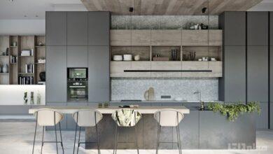 انتخاب کابینت برای آشپزخانه   کابینت مناسب آشپزخانه   کابینت در دکوراسیون آشپزخانه